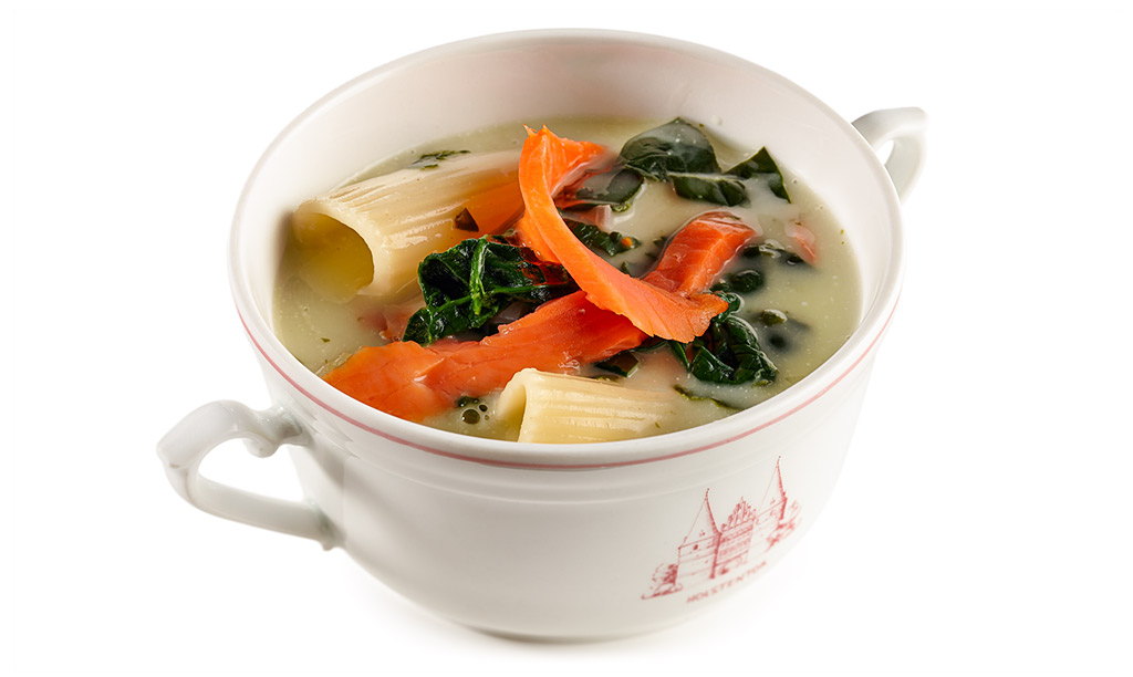 Noodle soup with salmon