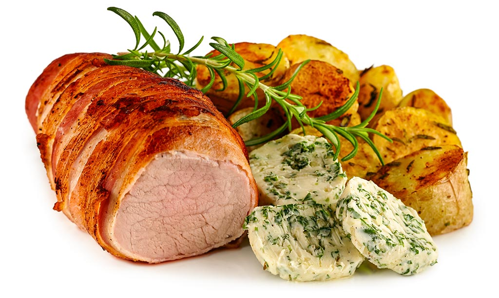 Pork fillet with herbs butter