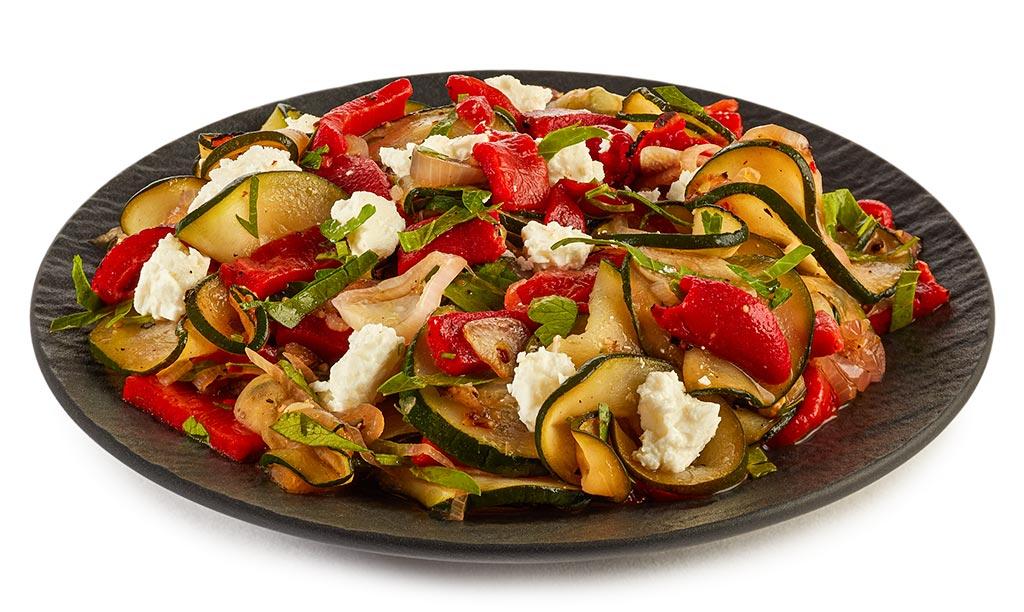 Zucchini Cheese Salad