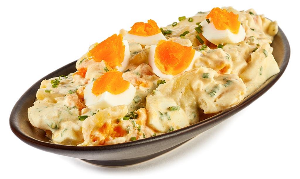 Rezept drucken eier kartoffel salat - Eier hart kochen dauer ...