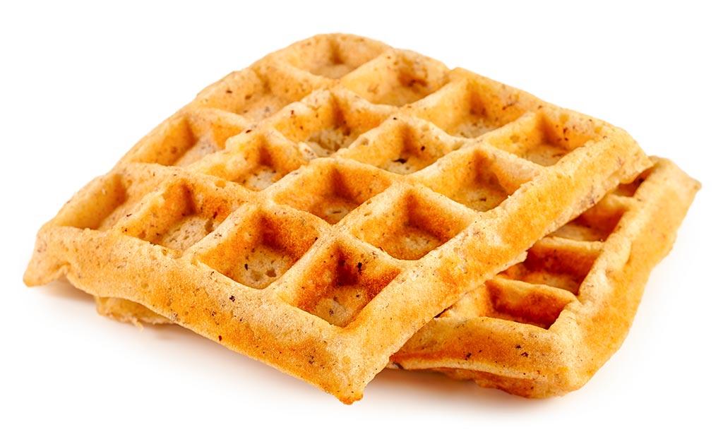 Apple nut waffle