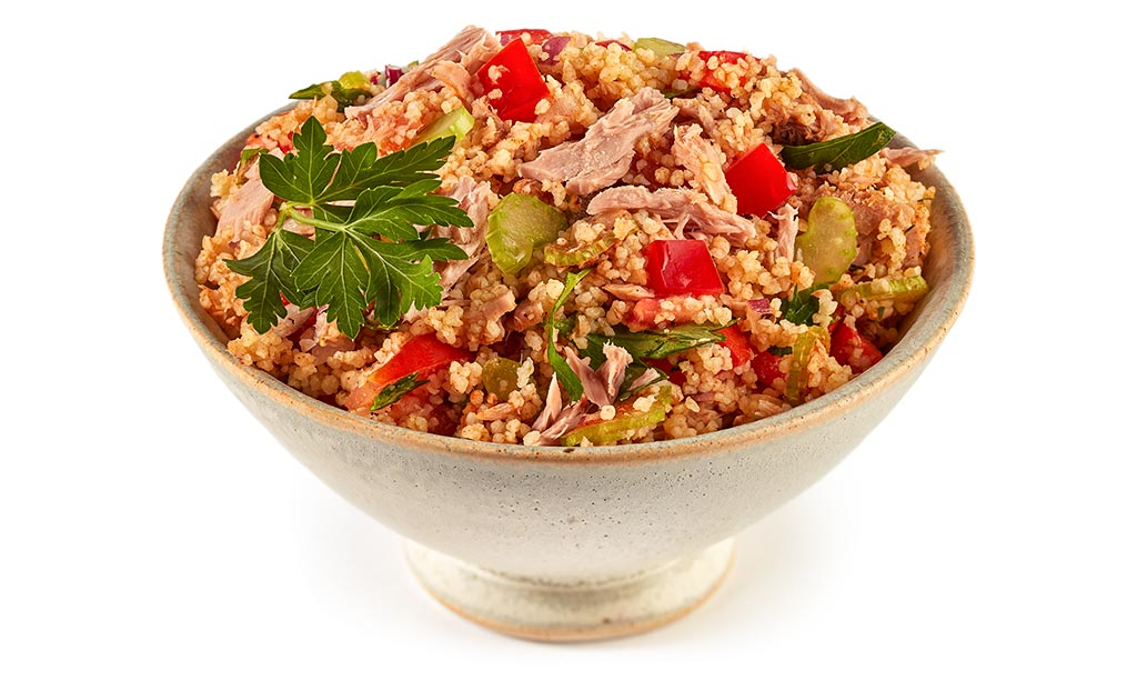 Couscous salad with tuna