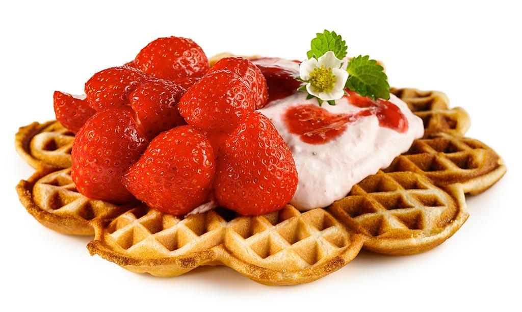 Rezept drucken erdbeer waffeln for Dekoration erdbeeren