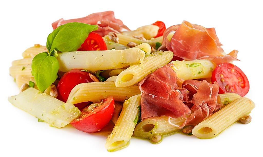 Noodle asparagus salad