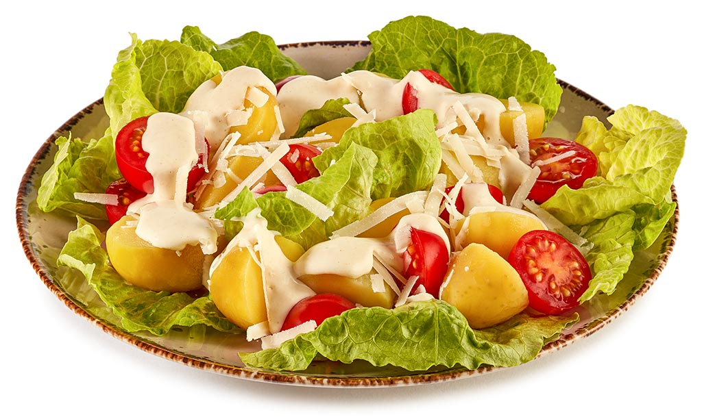 caesar salad kartoffel salat rezept. Black Bedroom Furniture Sets. Home Design Ideas