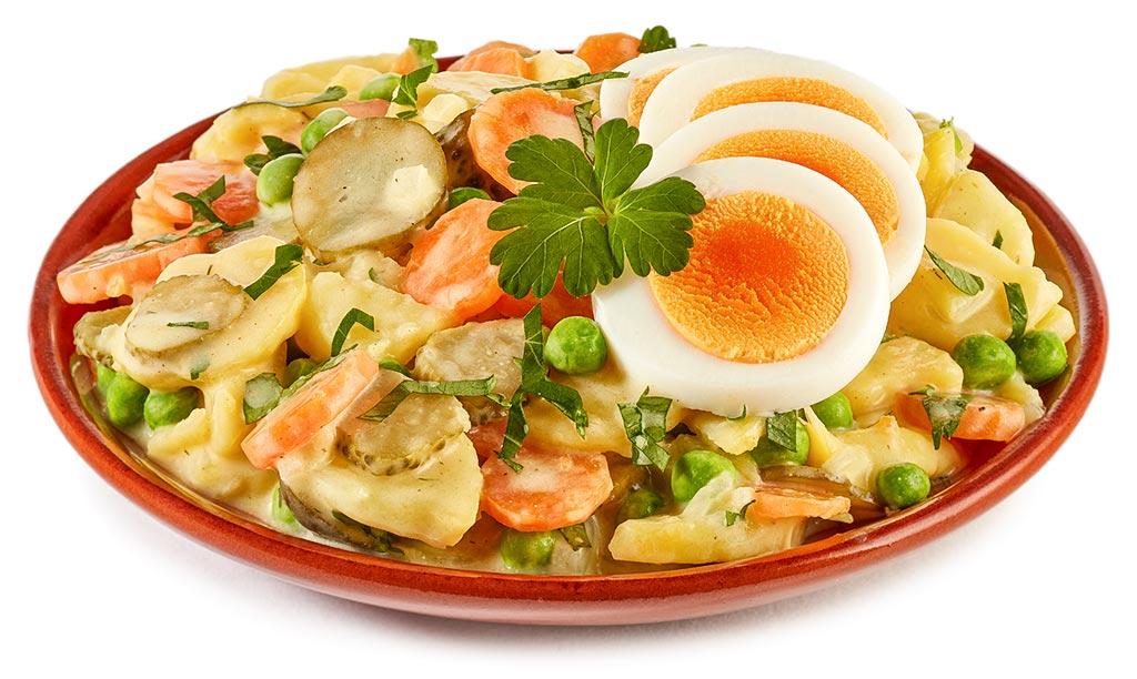 Rezept drucken schlesischer kartoffel salat - Eier hart kochen dauer ...