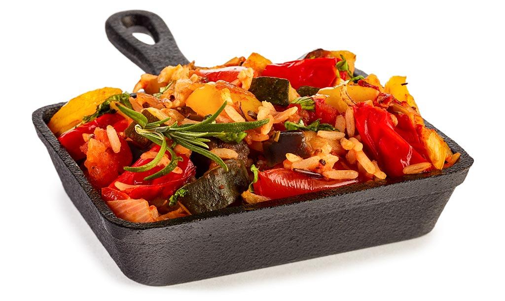 Ratatouille rice pan
