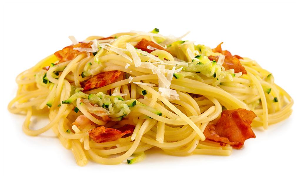 Zucchini Spaghetti Carbonara