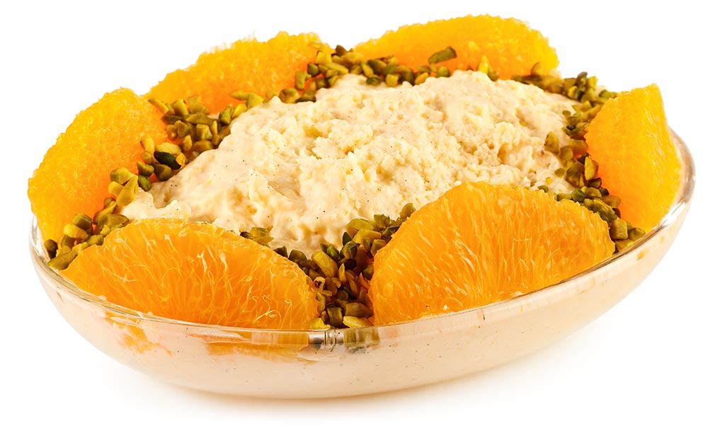 Bavarian cream with oranges