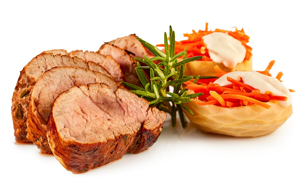 Pork fillet with aioli