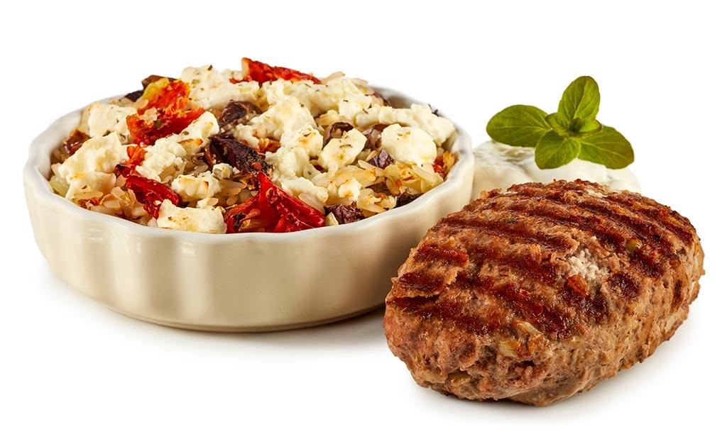 Bifteki Rice Casserole