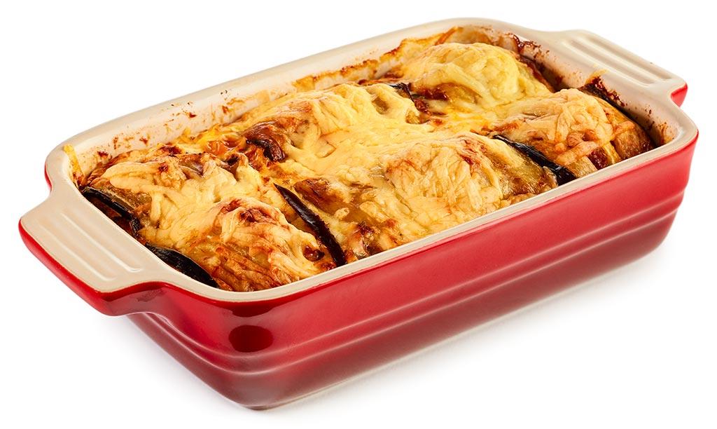 Aubergine Rolls Minced Meat Casserole