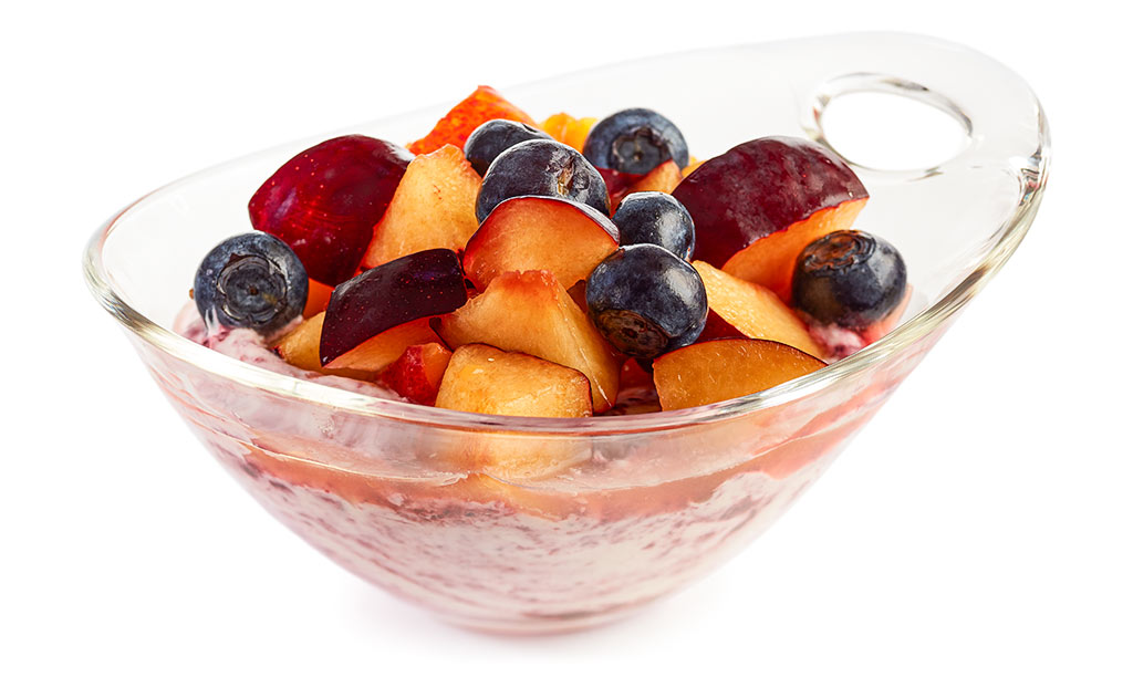 Blueberry Plums Fruit Salad