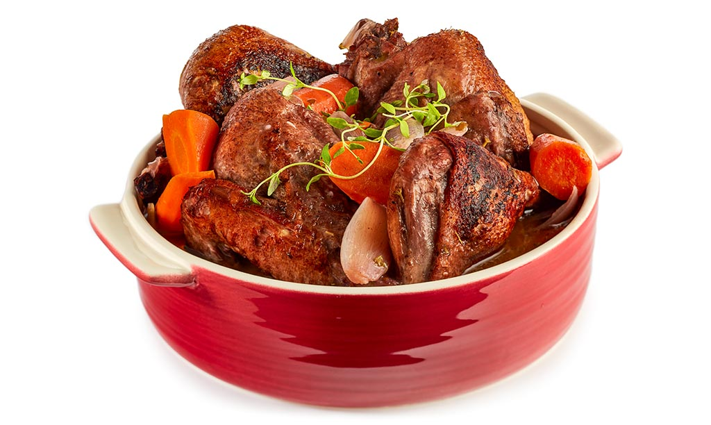 Canard au vin - Duck in Red Wine Sauce