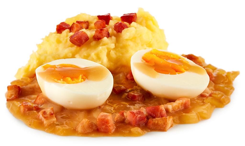 Rezept drucken eier in speck so e - Eier hart kochen zeit ...
