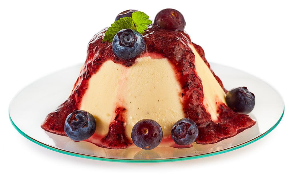 Bavarian cream with blueberries
