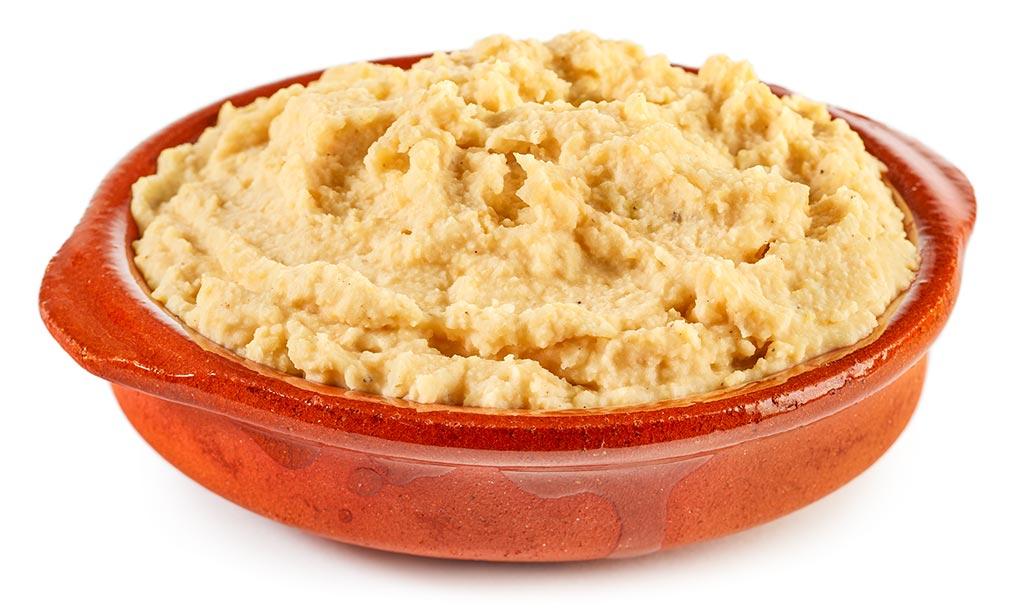 Aubergines Chick peas Bread spread