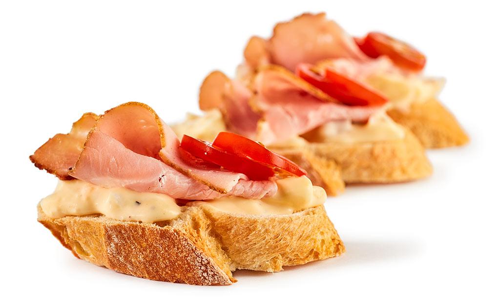 Back Ham Canapes