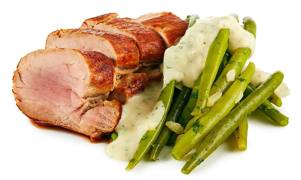 Pork fillet in gorgonzola sauce
