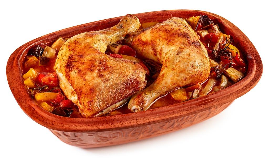 Chicken & Ratatouille in a Roman pot