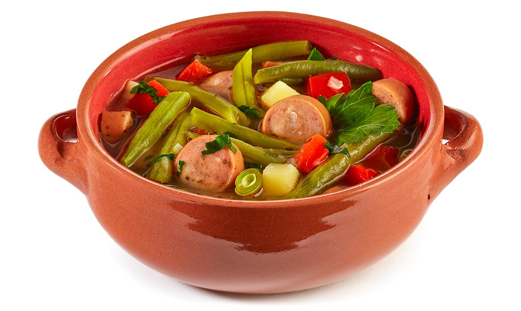 Green beans sausage stew