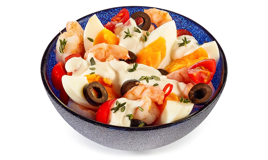 Rezept drucken aioli eier salat - Eier hart kochen zeit ...