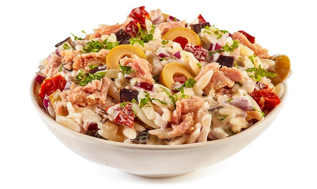 Tuna Kritharaki Noodle Salad