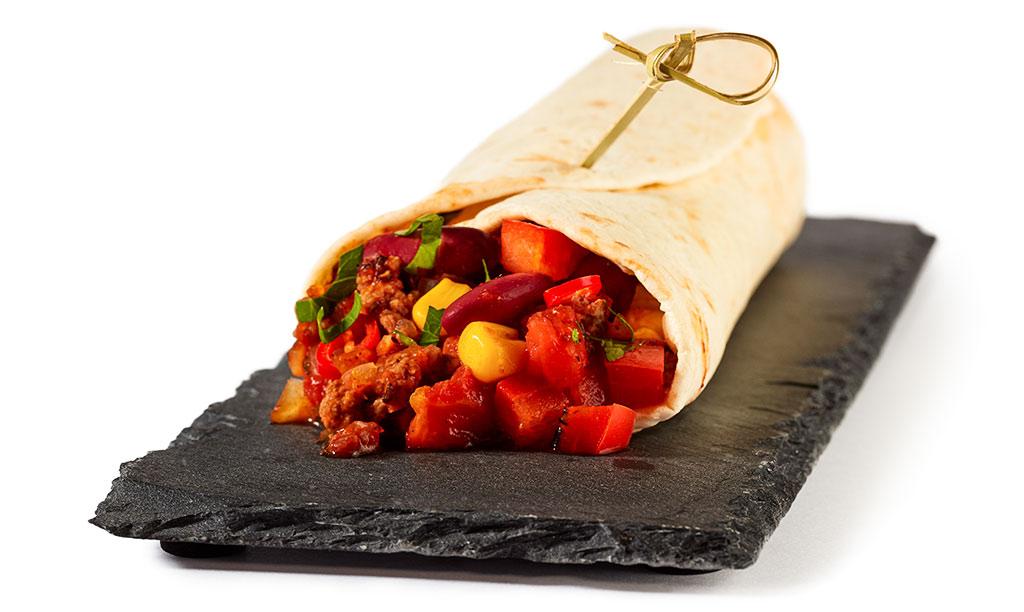 Chili con Carne Wraps