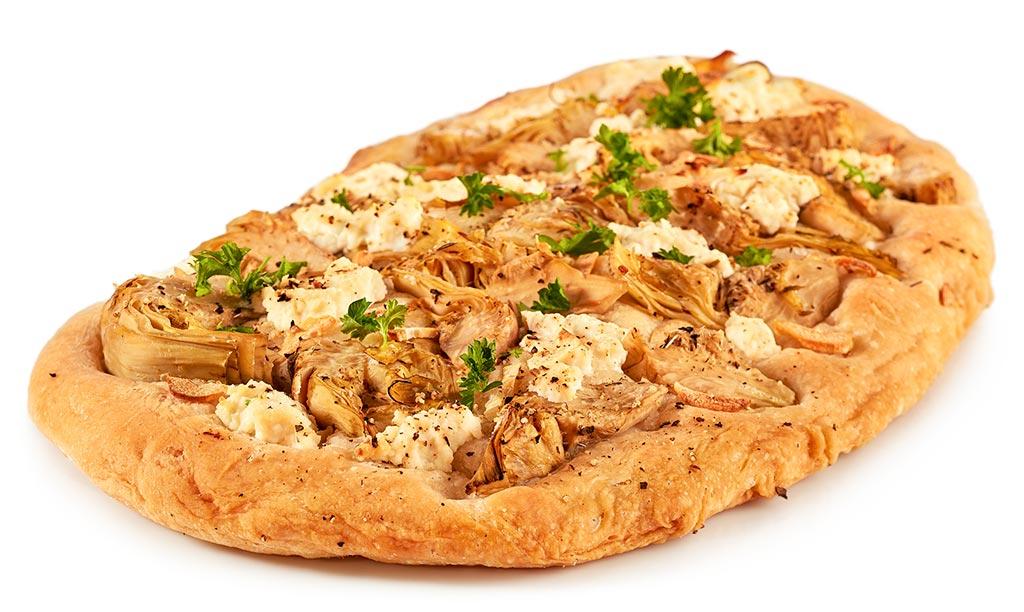 Artichokes flat bread