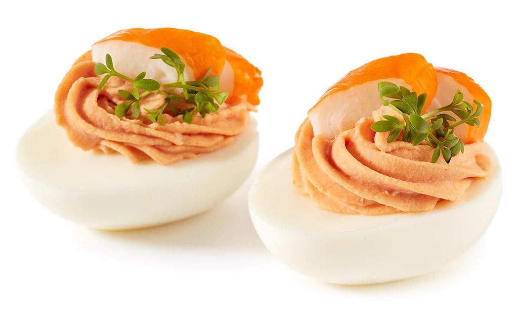 Rezept drucken gef llte surimi eier - Eier kochen dauer ...