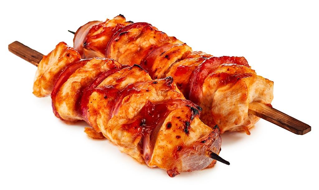 BBQ turkey chicken shashlik