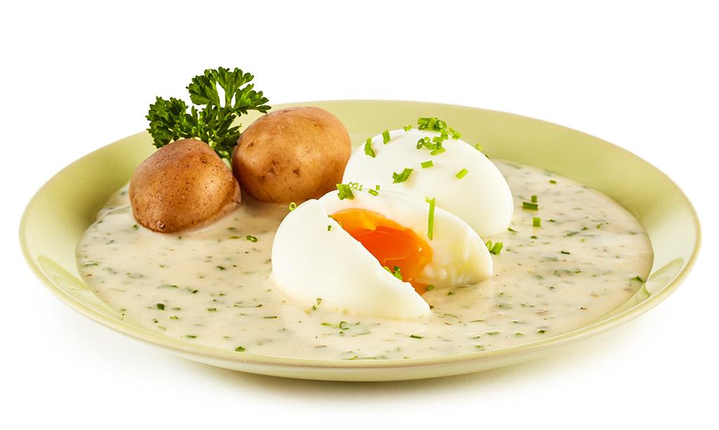 Eier in kr uter rahm so e rezept - Eier kochen wachsweich ...