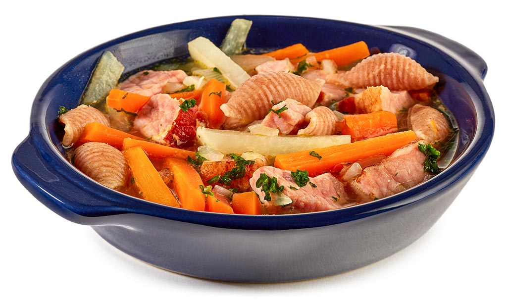 Carrots Kassler stew