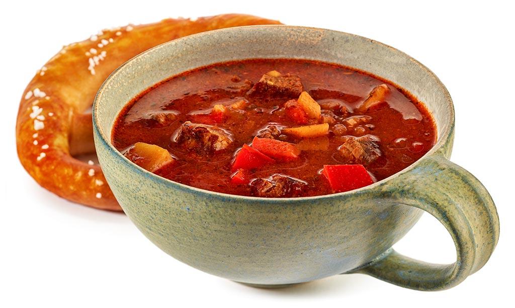 Bavarian goulash soup