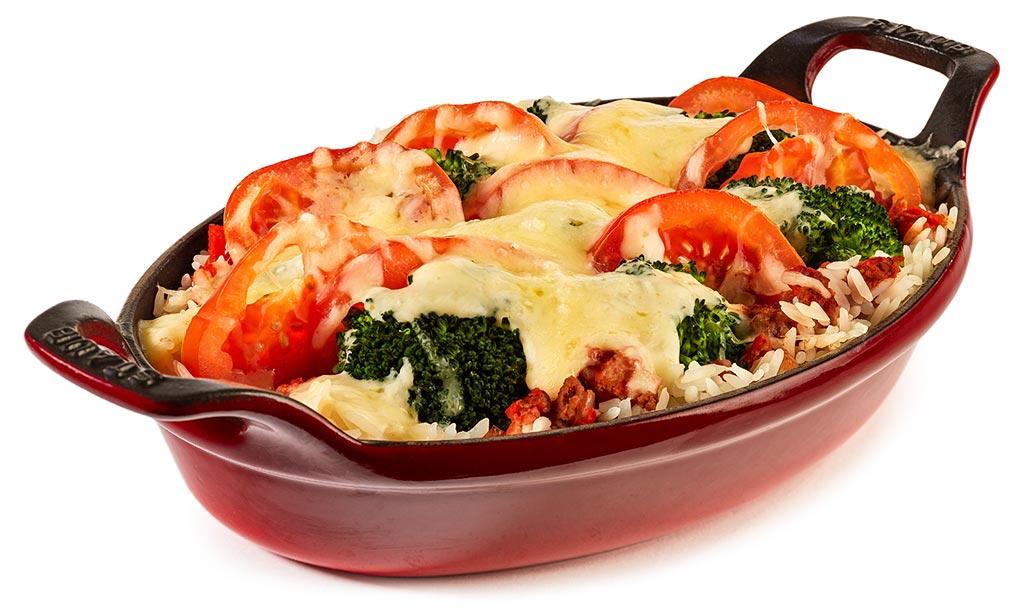 Broccoli Tomatoes Minced Meat Casserole