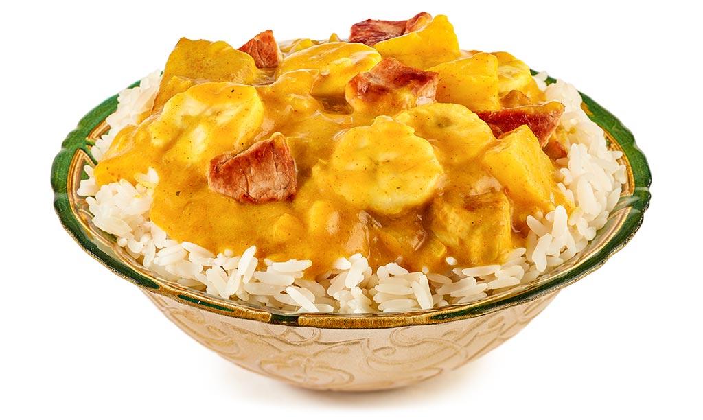 Banana Curry Rice with Pork Filet