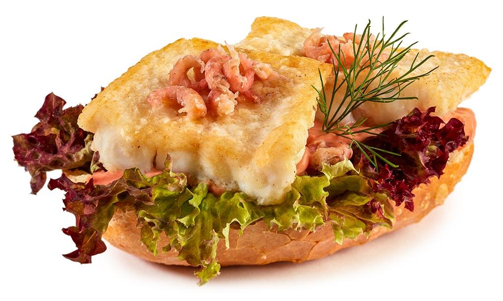 Fish Bread Rolls with Spitfish & Prawns