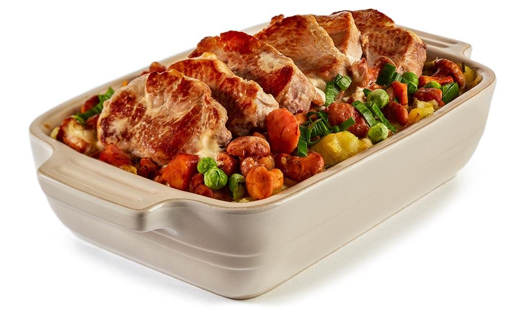 Pork fillet chanterelle casserole