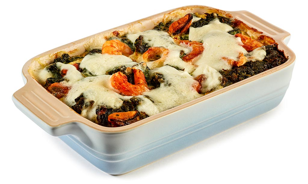 Seafood Potato Spinach Casserole