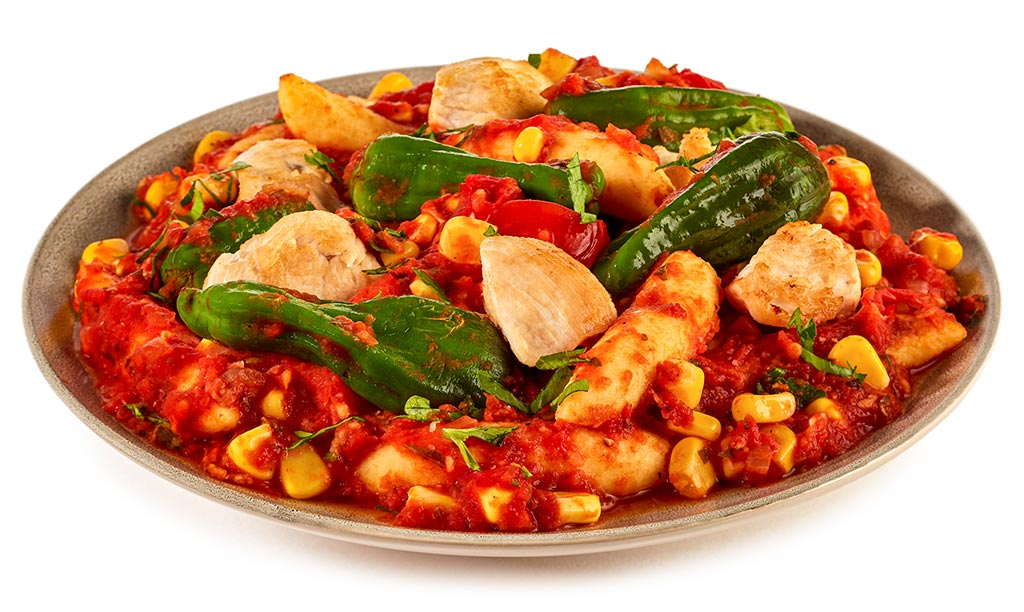 Schupf noodles with tomato chicken