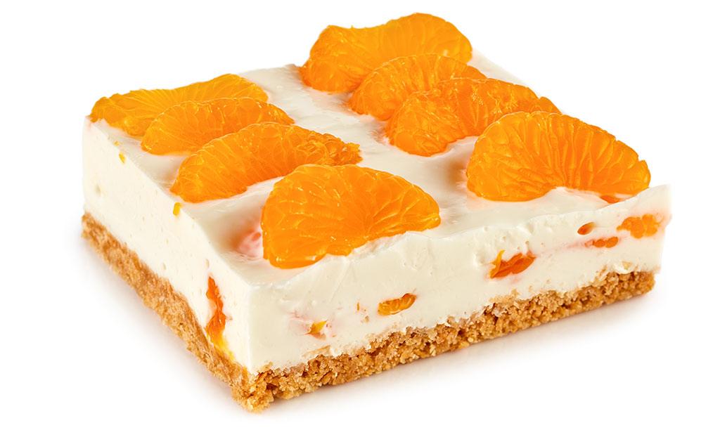 Tangerines Quark cake without baking