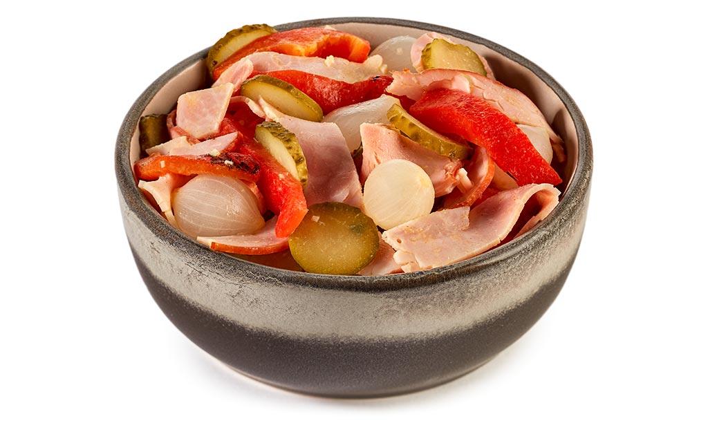 Baking ham meat salad