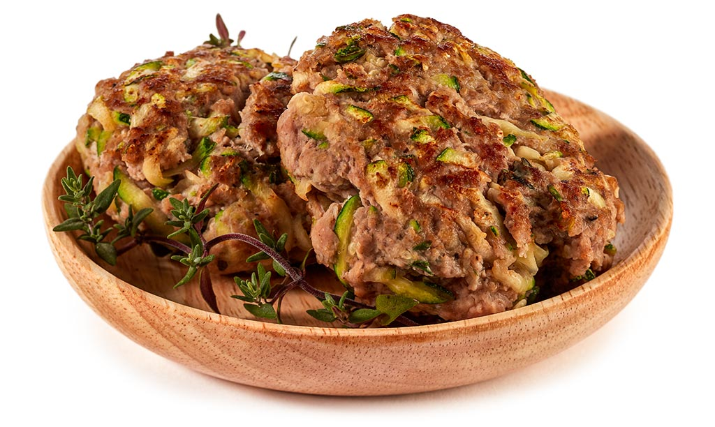 Zucchini minced meat meatballs