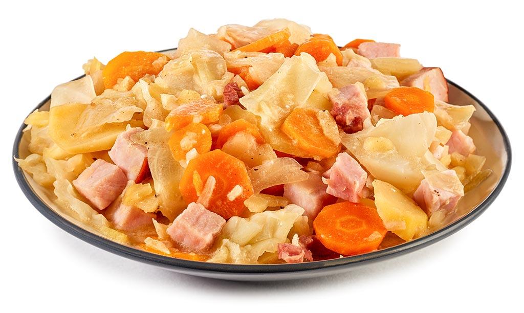Carrots Kassler layer cabbage