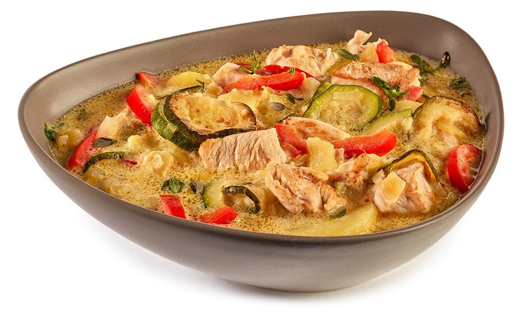 Potato Zucchini Chicken Stew