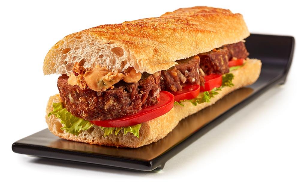 Meatloaf Croque Monsieur Baguette