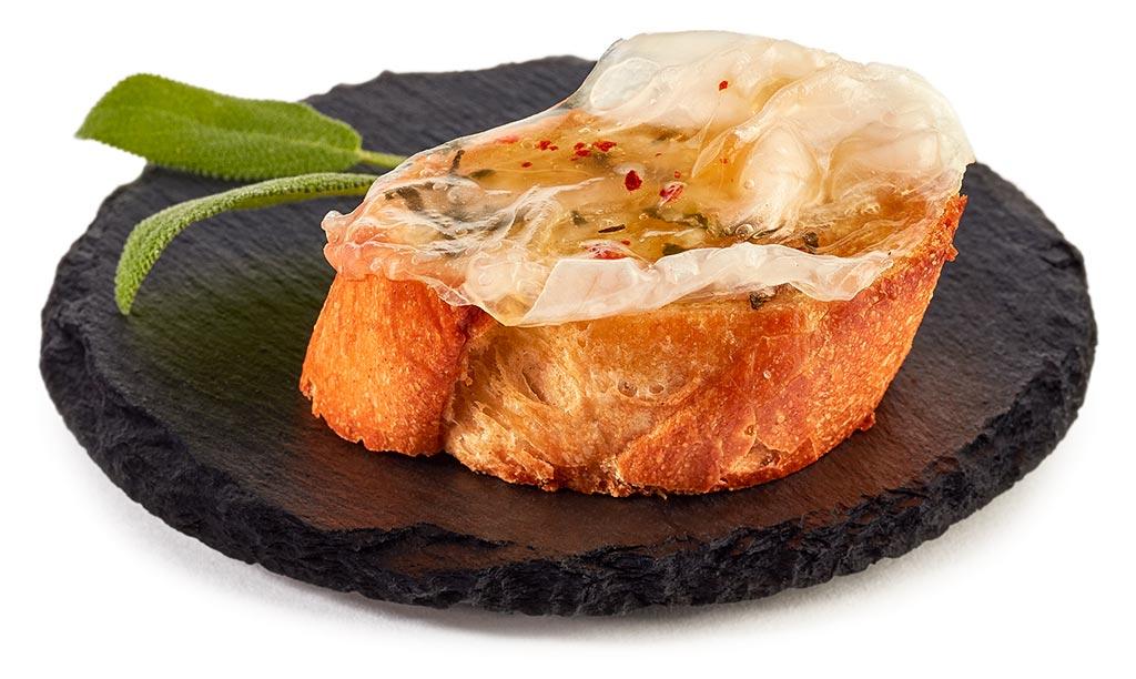 Crostini with lardo bacon