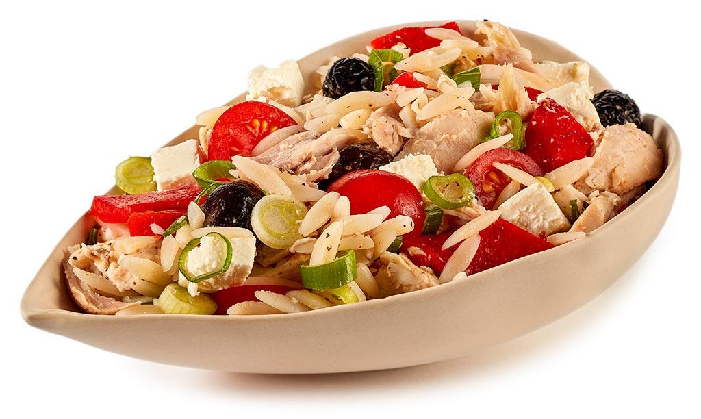 Kritharaki chicken salad