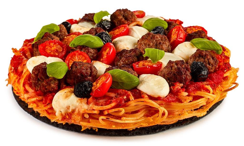 Spaghetti Pizza Mit Hackfleisch