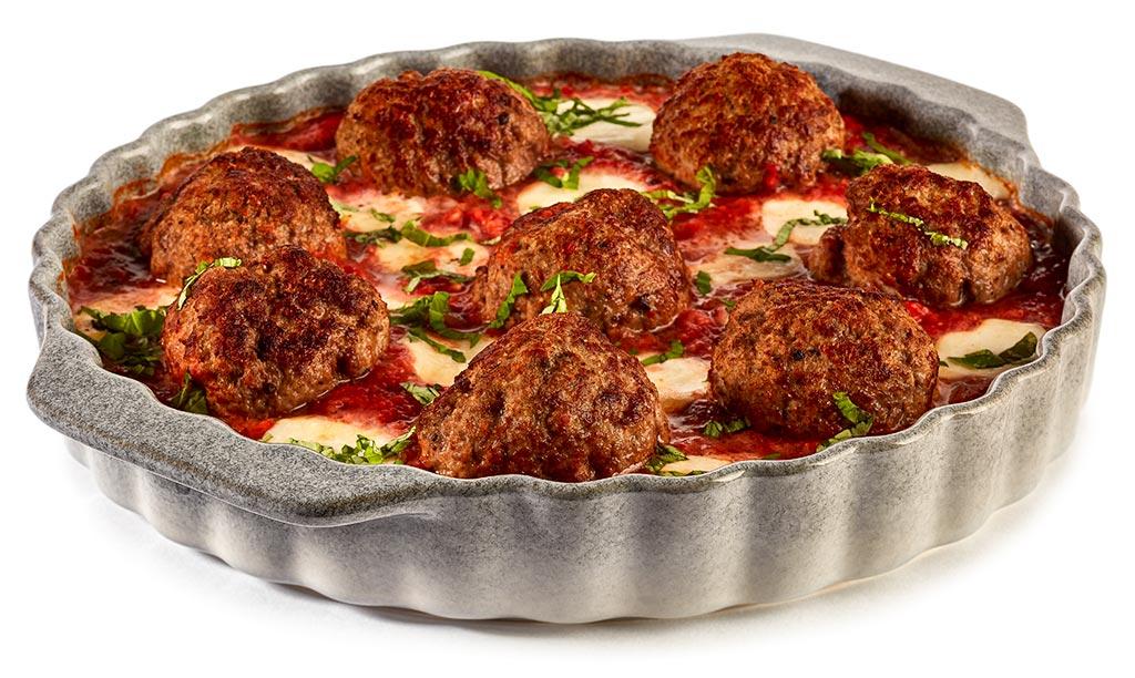 Minced meatballs Tomato Mozzarella